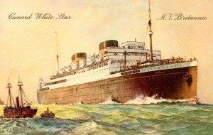 Cunard White Star Line - MV Britannic. Artist: Wilkenson