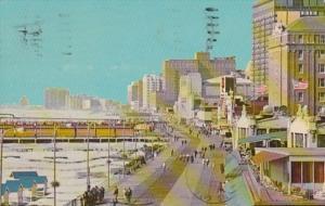 New Jersey Atlantic City Boardwalk Scene 1969