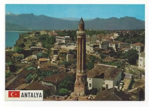 Turkey Antalya Yivli Fluted Grooved Minaret Postcard 4X6