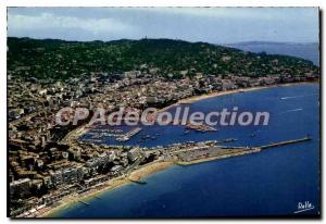 Modern Postcard The French Riviera Cannes Aerial View General Midi on the bea...