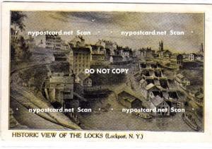 Historic View of the Locks, Lockport NY