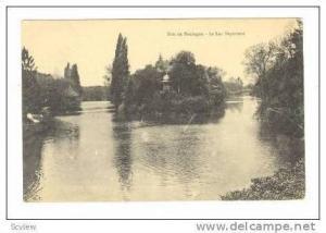 PARIS, Bois de Boulogne, Le Lac Superieur, Lake Side, View of Island, PU-1914...