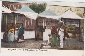 Candles for sale at Catedral de Guadalupe , Mexico, 1900-10s