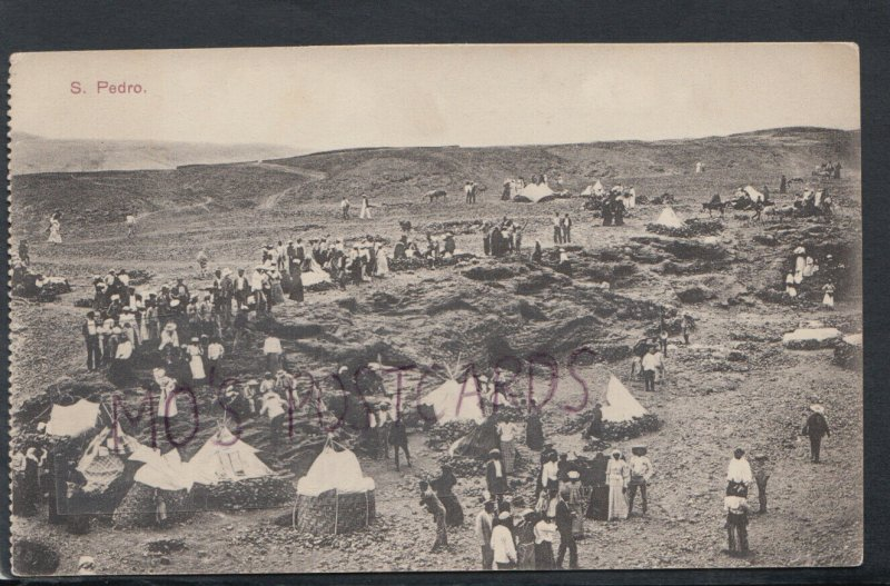 Cape Verde Postcard - View of an Encampment at Sao Pedro    RS18103