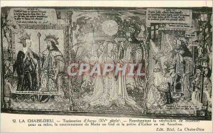 Old Postcard La Chaise Dieu Tapestry of Arras (XVth Century) Representing the...