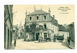 Central Hotel Stage Coach in street, CENTRAL HOTEL , BOURGES, France, PU-1914