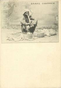 india, Native Snake Charmer (1899) Clifton & Co. Court Card