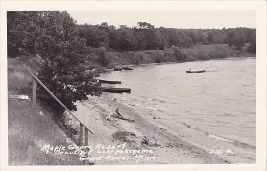 Maple Grove Resort Beautiful Lake PokegameGrand Rapids Minnesota Real Photo 1919