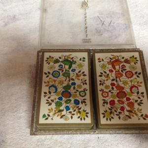 1970's Hoyle Stancraft Playing Cards Double Deck Persian Brocade