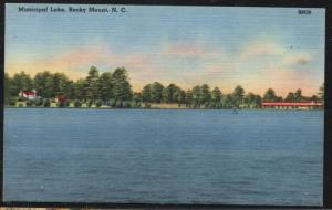 North Carolina colour PC Municipal Lake Rocky Mount  unused