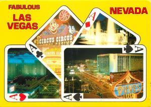 Las Vegas Nevada Imperial Palace Dunes Circus Circus Borgata Casino Postcard