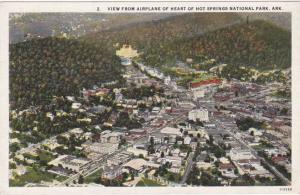 Aerial View of Hot Springs National Park AR, Arkansas - WB