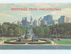 Pre-1980 BICENTENNIAL CITY - BENJAMIN FRANKLIN PARKWAY Philadelphia PA hp3842
