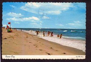 NJ Beach view bathers Long Beach Island New Jersey Postcard