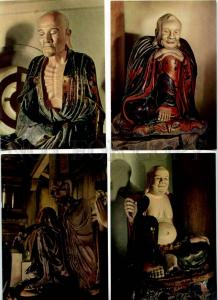 254033 VIETNAM Sculptures from Tay Phuong Pagoda SET of 16 Old postcards