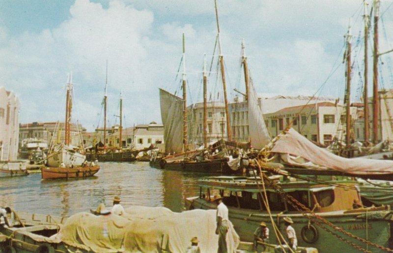 BARBADOS, British West Indies, 1940-60s; The Careenage, Sailboats