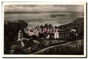 Old Postcard Saint Jacut of the Sea C. N Abbey and view of Little Rock and La...