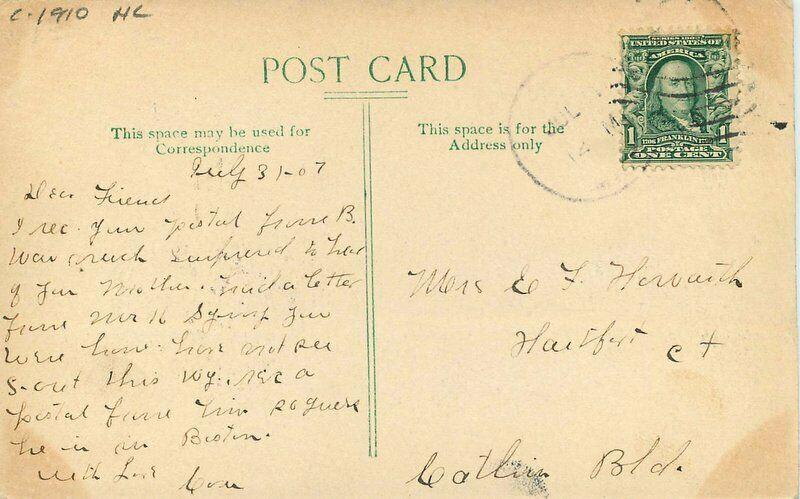 Bennett Park Charlotte Michigan Old Railway C-1910 Postcard hand colored 1328