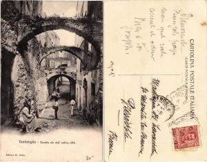 CPA VENTIMIGLIA vecchia via dell'antica citta. ITALY (530612)