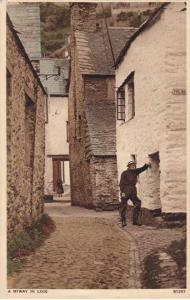 A Byway in Looe, Cornwall, England - pm 1939 - WB