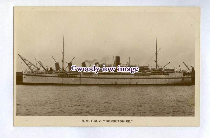 pf7152 - Bibby Troop Transport Liner - Dorsetshire , built 1920 - postcard