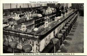Postcard - Advertising - Columbia , SC - Eckerd's Drug Store - COUNTER