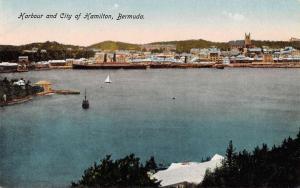 Hamilton Bermuda Harbor An City Birdseye View Antique Postcard K65732
