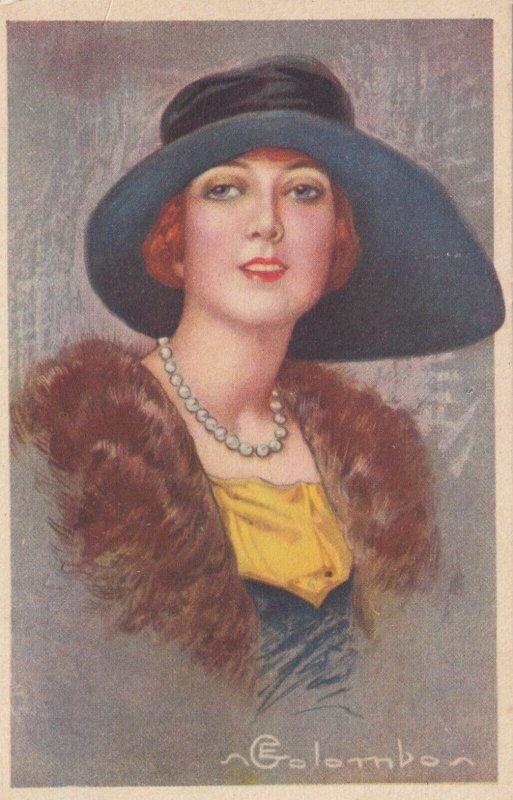Art Deco ; COLOMBO , Female Fashion Head Portrait, # 2 , 1910-30s