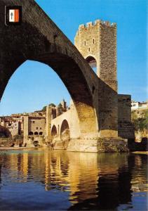 Girona Spain Postcard, Besalu, Comtal Vila, Romanesque Bridge R52