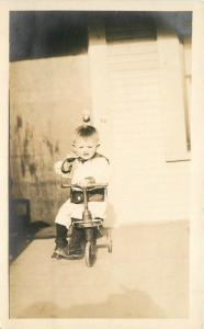 C-1910 Cute Child on Tricycle Toy RPPC real photo postcard 4310