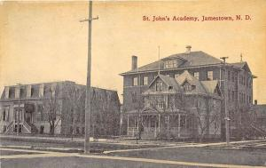 Jamestown ND Street View St John's Academy, Published by Bloom Bros. Postcard