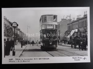London Tram TRAMS IN LAVENDER HILL BATTERSEA Pamlin Print Postcard M489