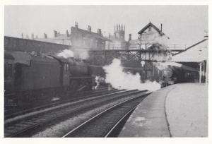 Bolton Trinity Street Station in 1962 44823 Train Postcard