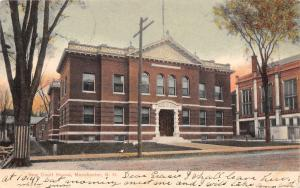 Manchester New Hampshire~New Court House~Lumber on Ground~1906 Postcard