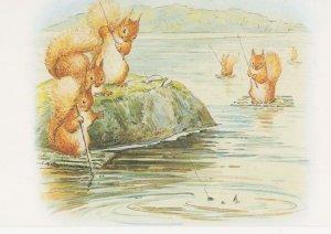 Squirrels Fishing The Tale Of Nutkin Beatrix Potter 1903 Book Postcard