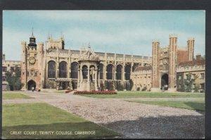 Cambridgeshire Postcard - Great Court, Trinity College, Cambridge  RS6876