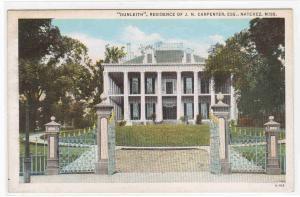 Dunleith J N Carpenter Residence Natchez Mississippi postcard