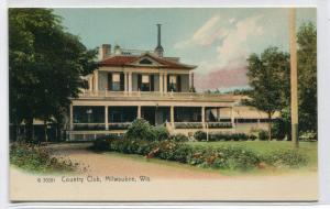 Country Club Milwaukee Wisconsin 1907c Rotograph postcard