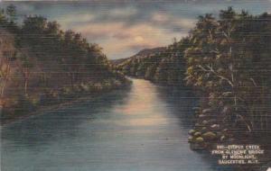 New York Saugerties Esophus Creek From Glenerie Bridge By Moonlight