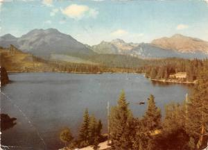 Slovakia The High Tatras - Strbske pleso (1351 m) glacial mountain lake