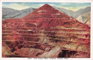 Utah Copper Mine, Bingham Canyon, Utah, early postcard, unused