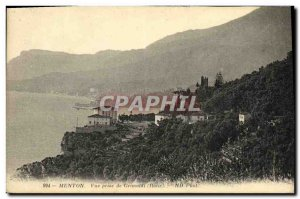 Old Postcard Menton View from Grimaldi