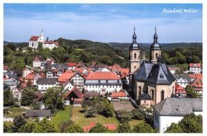 Postcard Overlooking Gossweinstein, Forchheim in Bavaria, Germany 89D