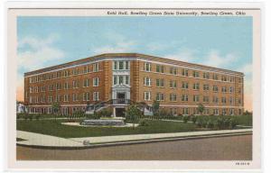 Kohl Hall Bowling Green State University Ohio postcard