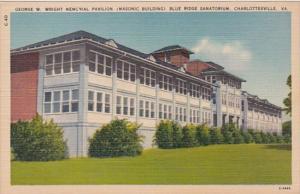 Virginia Charlottesville George W Wright Memorial Pavilion Masonic Building B...