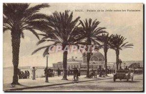 Old Postcard Nice Palais de la Jetee between Palms