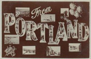 RP: PORTLAND UK , 1905 , Large Letter w/ LIGHTHOUSE