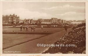 Old Vintage Lawn Bowling Postcard Post Card Hove Bowling Greens Unused