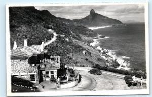 *Brasil Brazil Coastline Classic Car Restaurant Ocean Vintage Photo Postcard C84