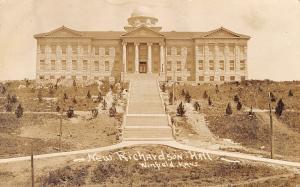 Winfield KS~Southwestern College~Richardson Hall~Got it In Neck 2-1~1911 RPPC